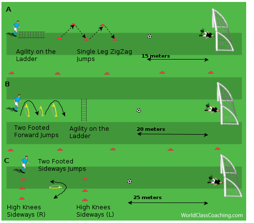 Agility & Plyometric Stations with Shooting